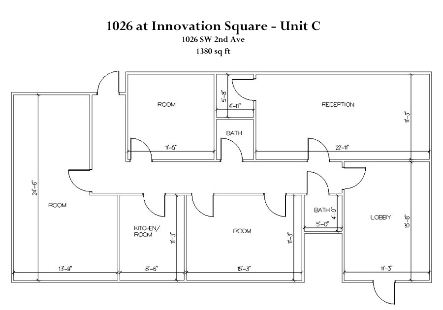 Drawn office commercial office Commercial Floorplan   1026C