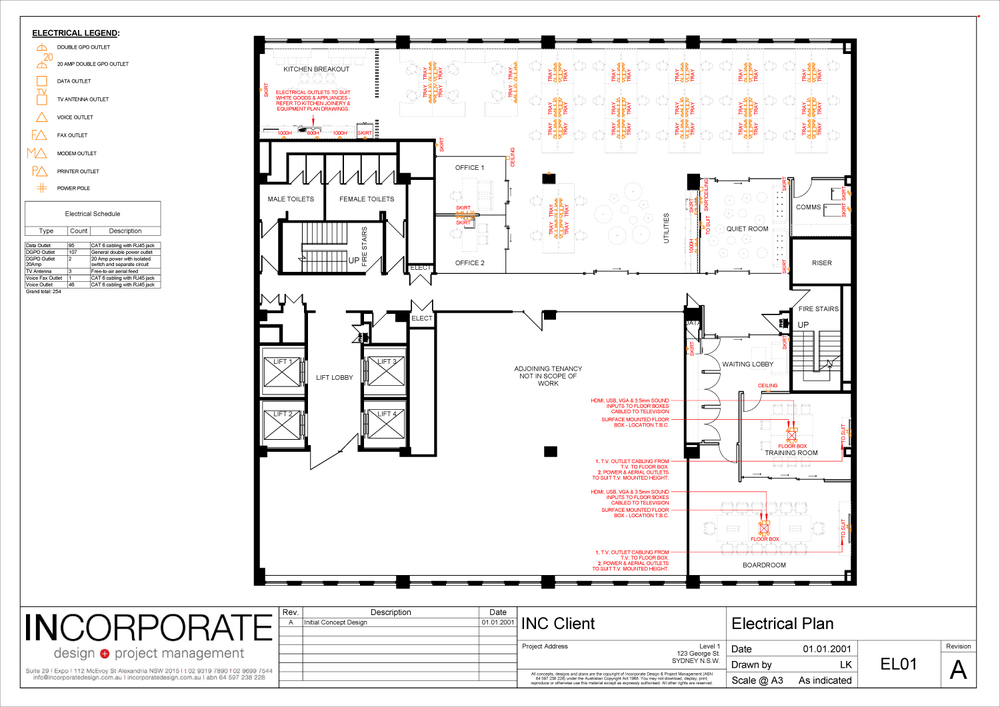Drawn office commercial office  Project + Sydney Commercial