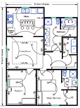 Drawn office contractor Detailed  Electrical electricians Wire