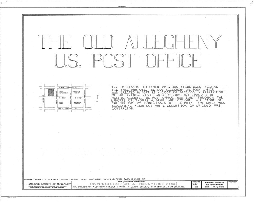 Drawn office contractor Library  Pittsburgh Ohio Allegheny