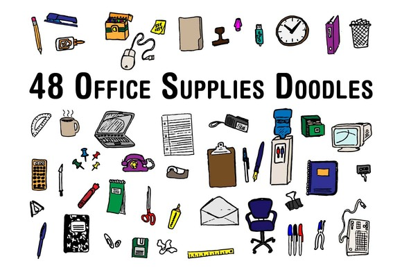Drawn office creative office Drawn and Doodles Supply drawn