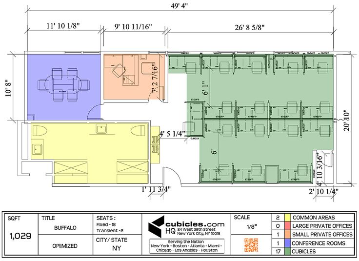 Drawn office cubicle For office 1 on Layout