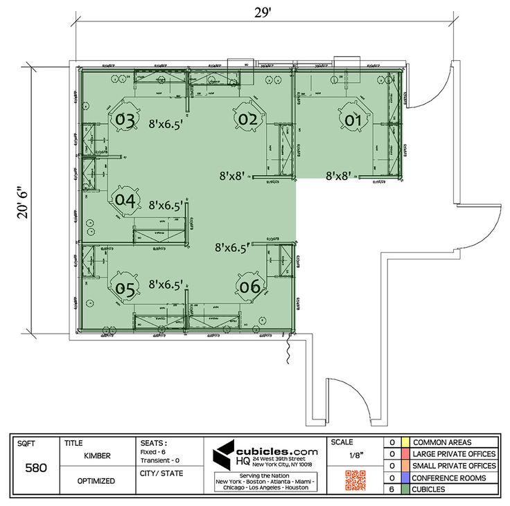 Drawn office cubicle Floor Cubicle plan best office