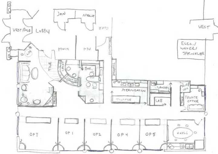 Drawn office dental office Design by dentist for Office