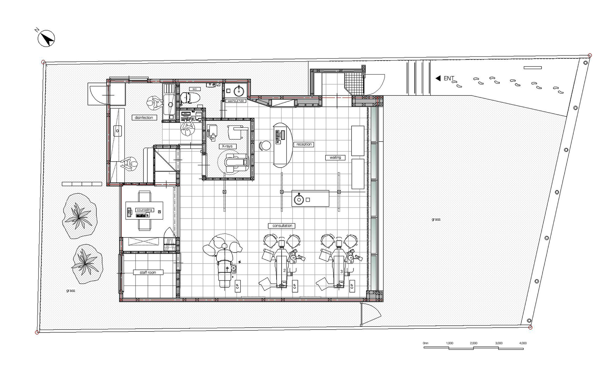 Drawn office dentist office Clinic eleven inteiror / ArchDaily