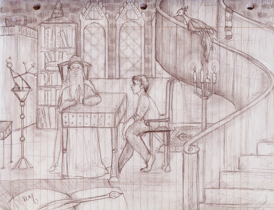 Drawn office dumbledore Office GoldQueen95 by Dumbledore's by