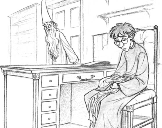 Drawn office dumbledore Defense office departs to Sophie