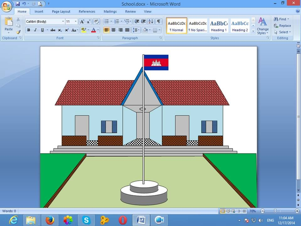 Drawn house ms paint To Microsoft Word in How