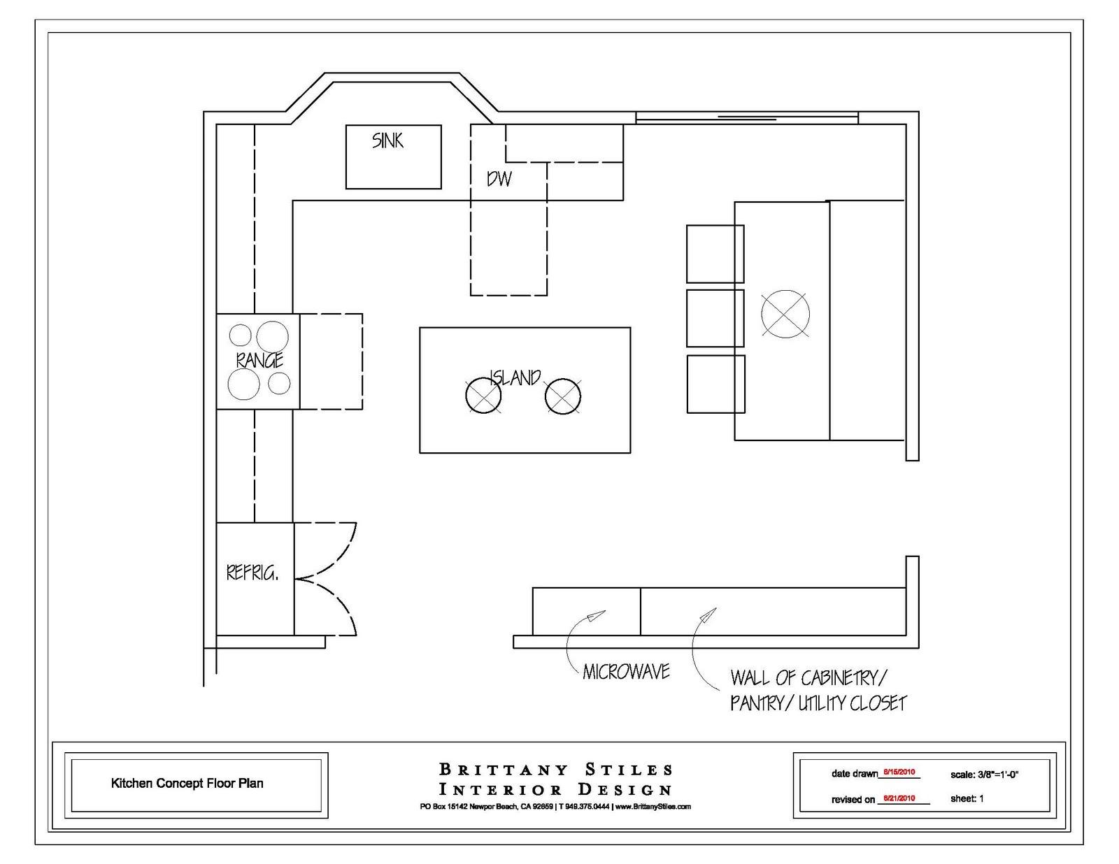 Drawn office easy Kitchen Kitchen Layout Draw