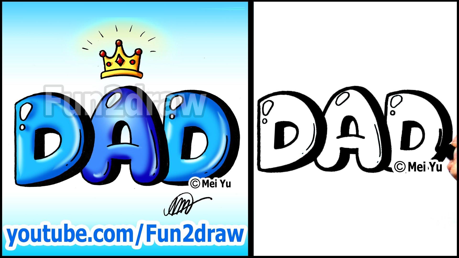 Drawn office easy Dad Graffiti ~ Bubble Youtube
