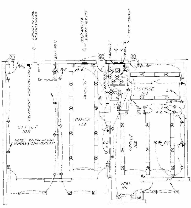 Drawn office electrical Goyette Engineers Architects Spencer a