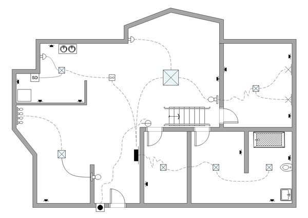 Drawn office electrical Example Plan  Electrical