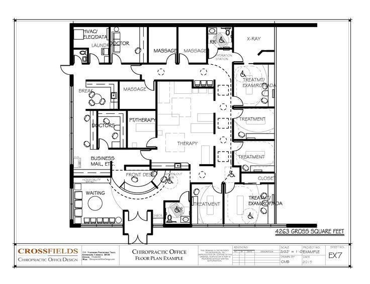 Drawn office floor plan design Floor 20+ #Physical 4263 Office