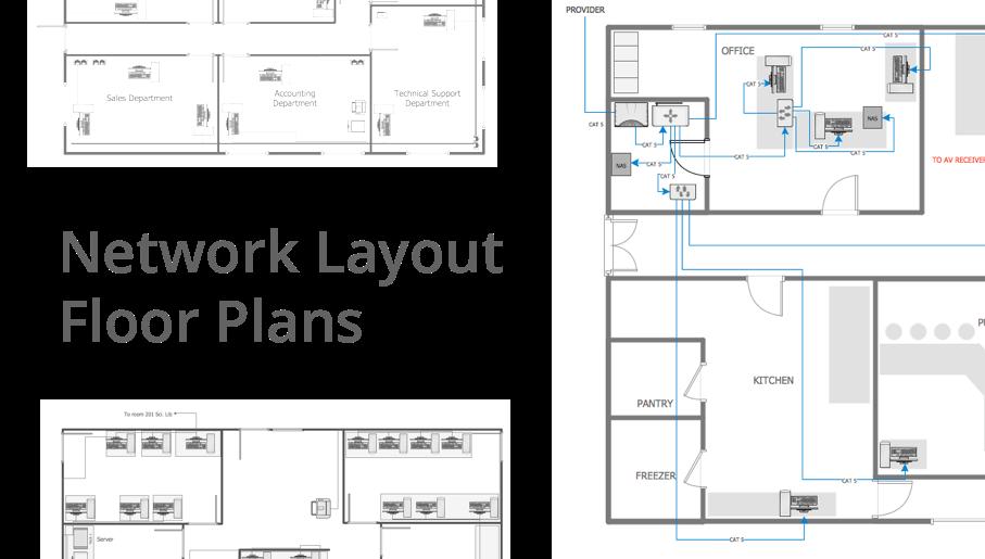 Drawn office floor plan design Design Floor network Network Plans