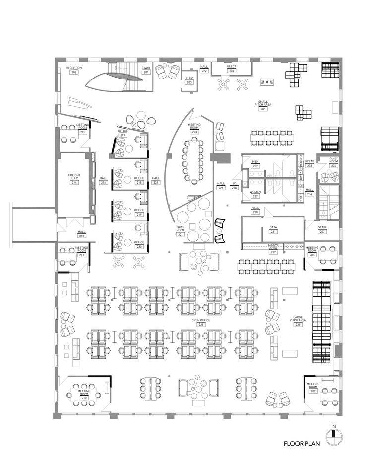 Drawn office floor plan design On about Restaurant best Layout