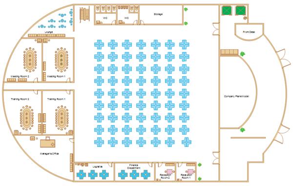 Drawn office floor plan design Software Plan Office Template Floor