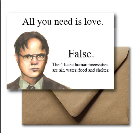 Drawn office funny Card Valentines Dwight Office