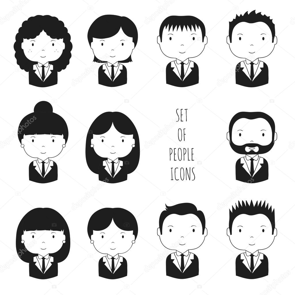 Drawn office funny Silhouette office hand Businessman cartoon