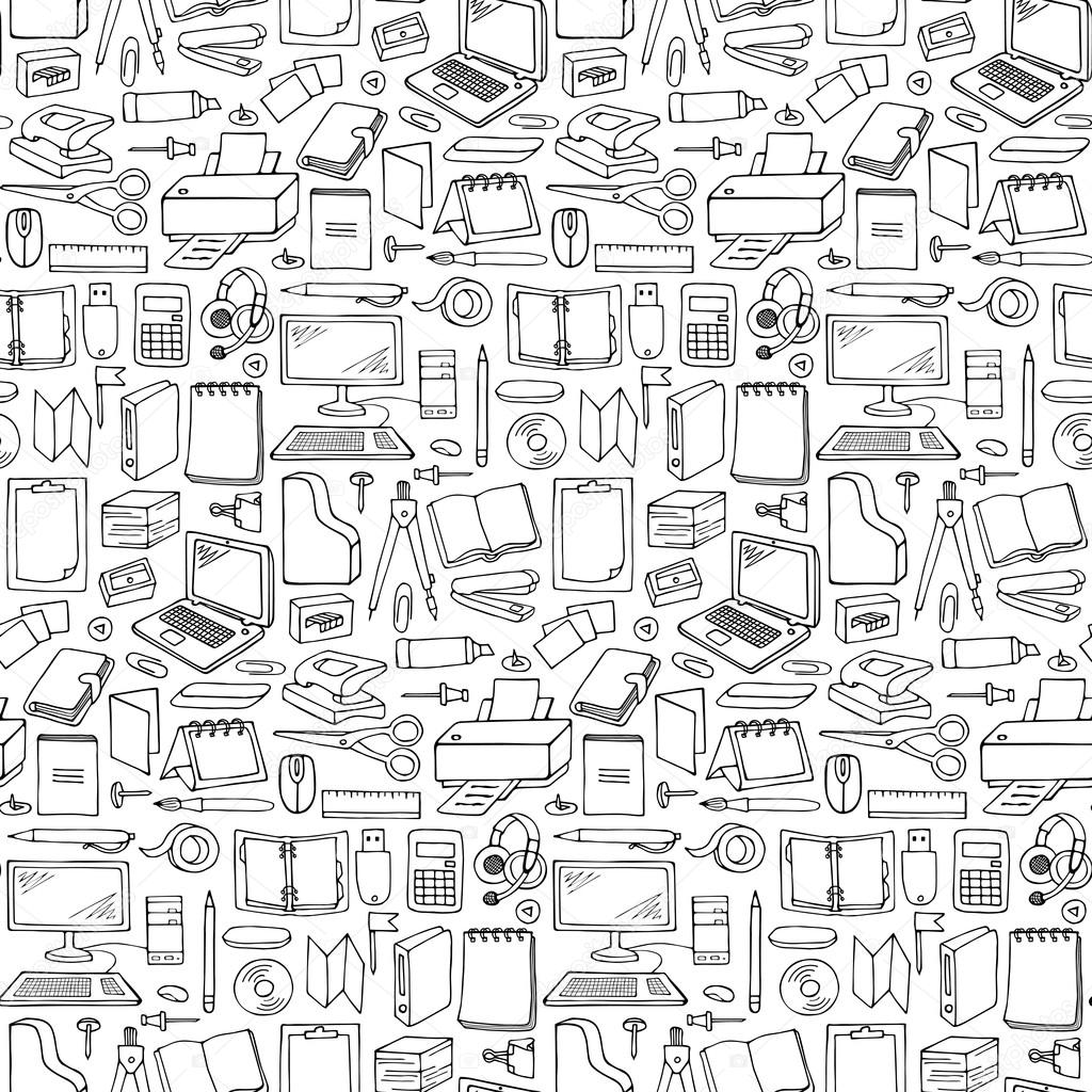 Drawn office hand drawn #95351740 pattern Vector #95351740 Office