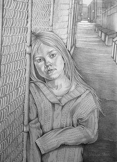 Drawn office homeless child Homeless of Custom portrait Child