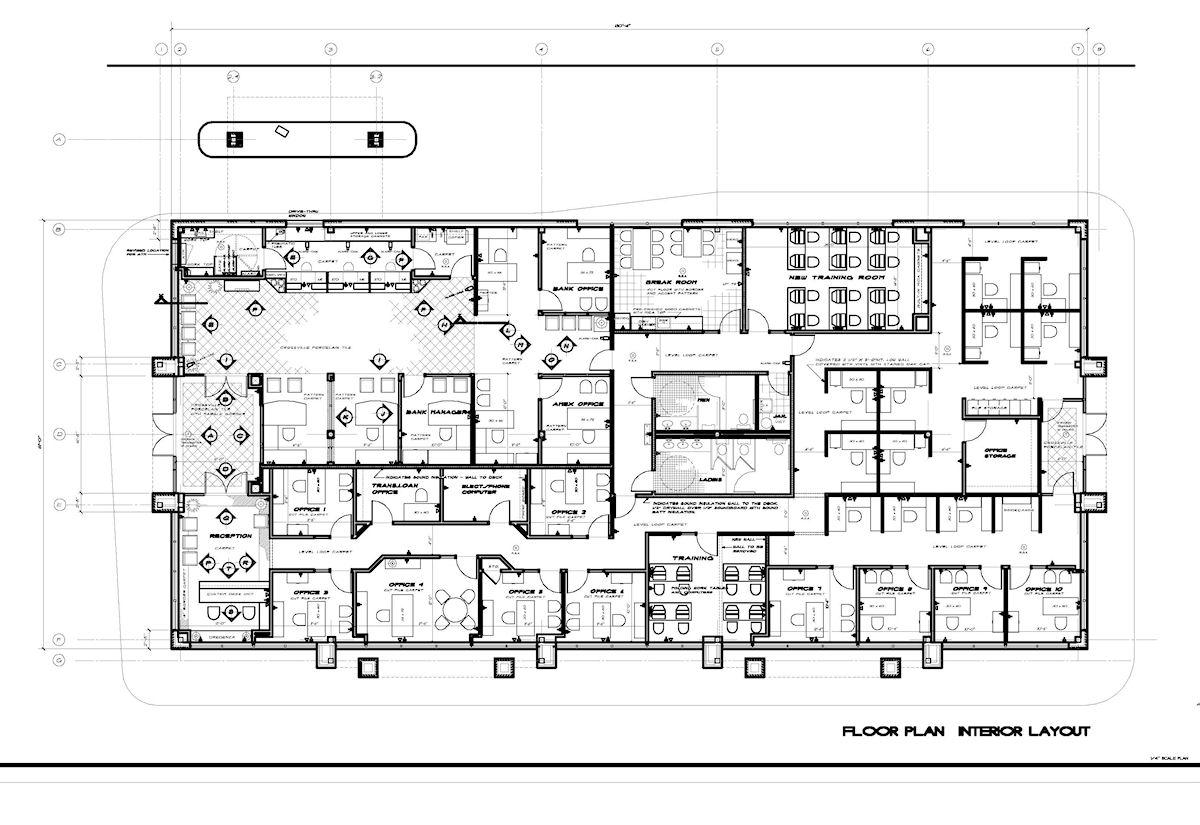 Drawn office interior design Design Designs Plans Hand Exquisite