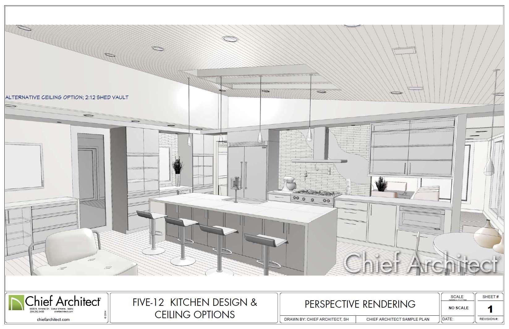 Drawn office interior design Design 12 kitchen Samples Architect