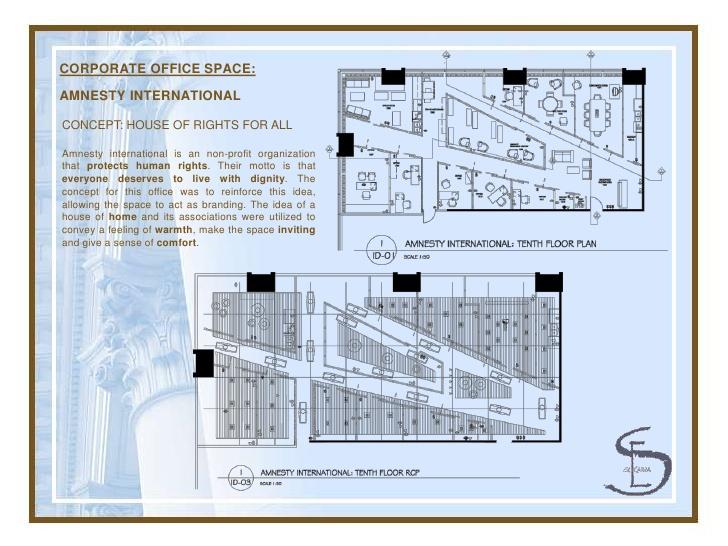 Drawn office interior design 3 CORPORATE Portfolio OFFICE Design