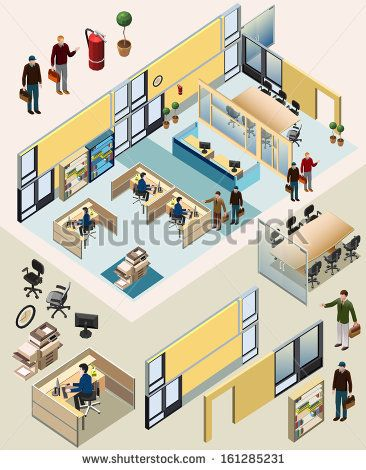 Drawn office isometric Pinterest #incredible 159 about #