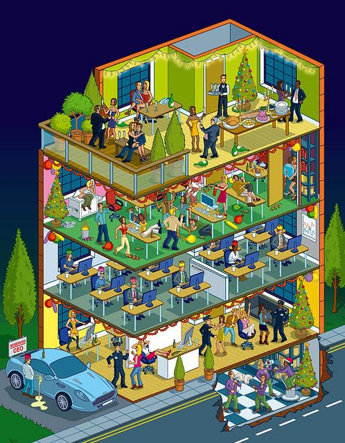 Drawn office isometric About Rod by Illustration Hunt