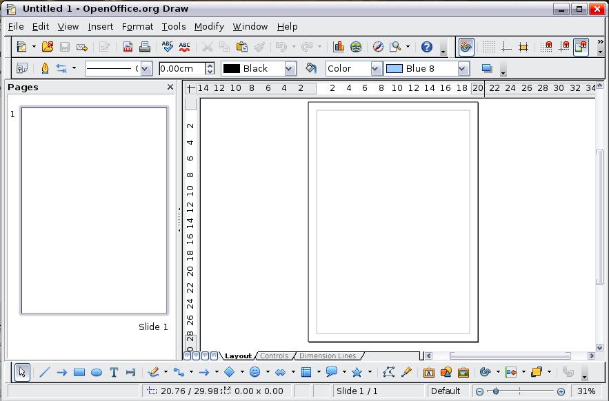 Drawn office line drawing OpenOffice Draw Draw 1: Apache