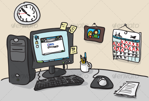 Drawn office messy Illustration Man Hand dxc Objects