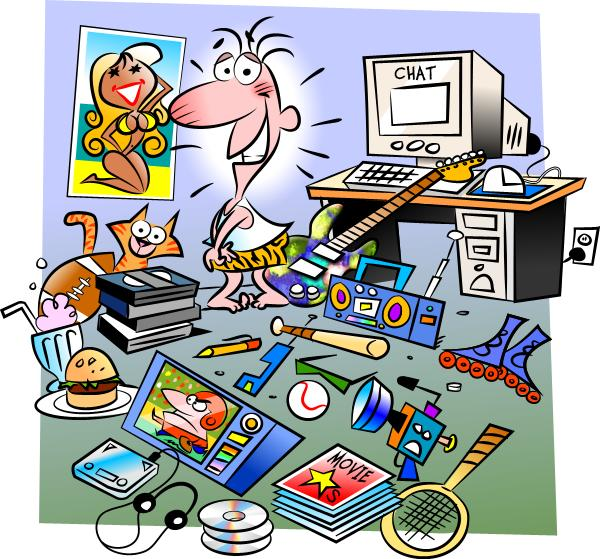 Drawn office messy Office Mess Zone Messy Clipart