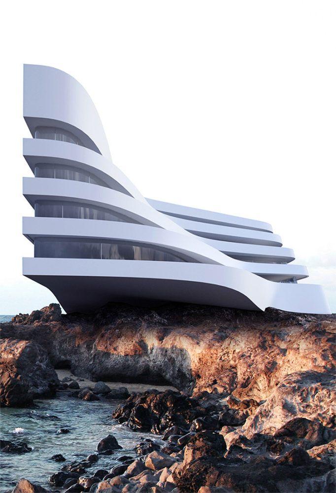 Drawn office modern building DesignRoman Concepts BuildingsHigh on Best