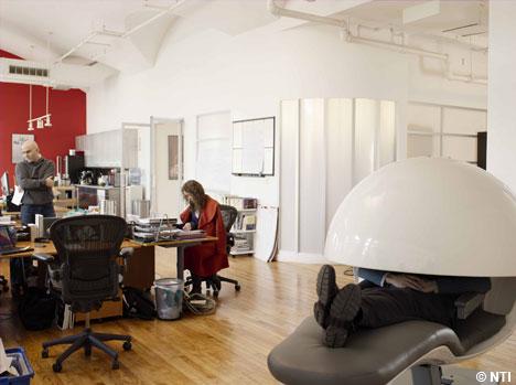 Drawn office nap 'power  giants EnergyPod nap