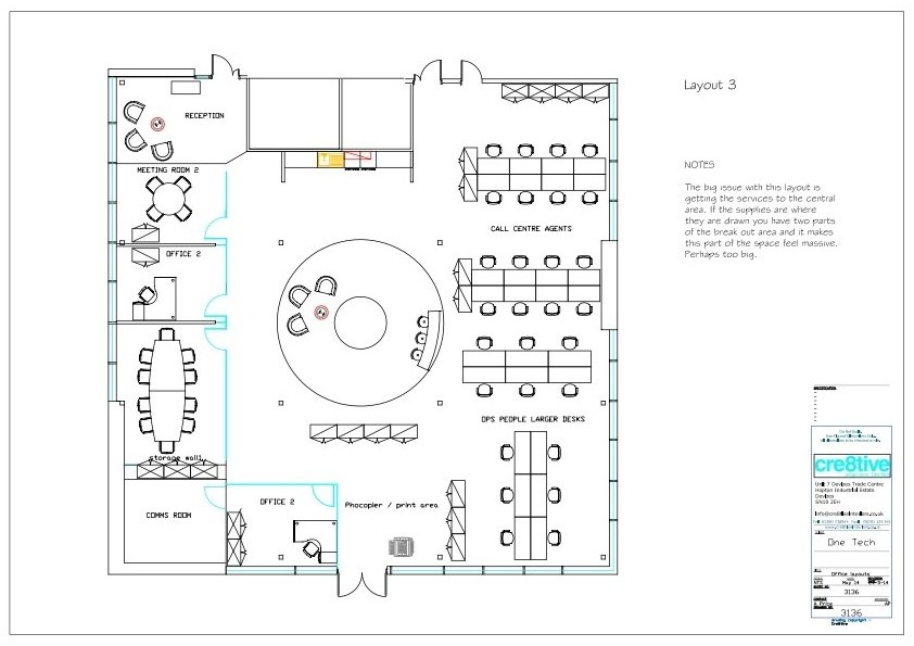 Drawn office office design Fit Cre8tive Swindon in and