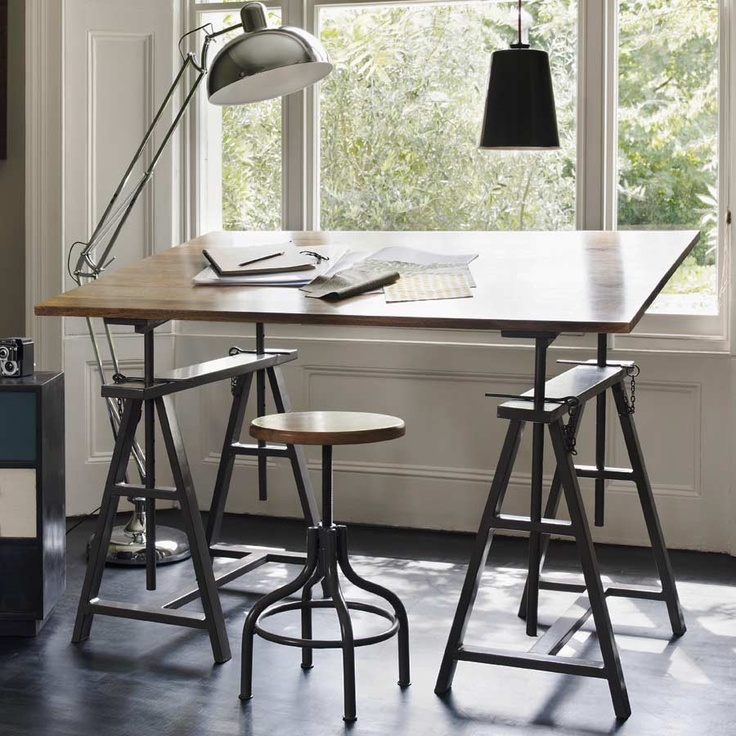 Drawn office office desk Mad ideas Pinterest About Industrial