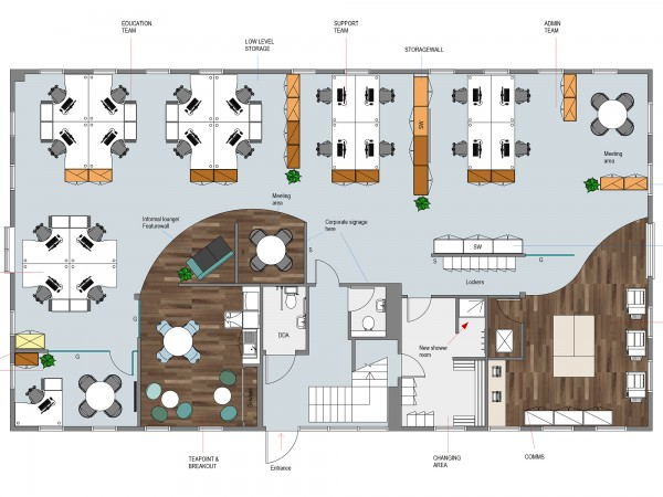 Drawn office office layout Office Designing 2d ideas Efficient