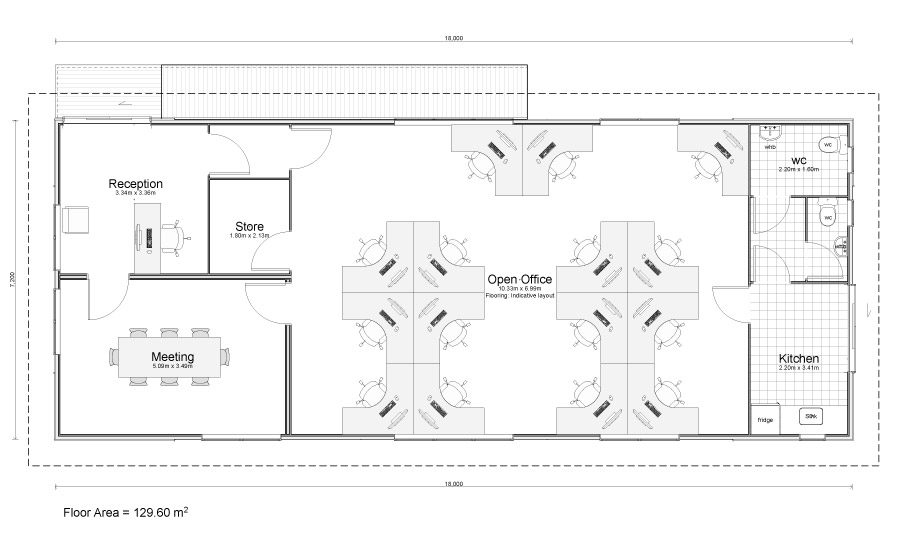 Drawn office office layout Solution Plans Office Office Marvelous