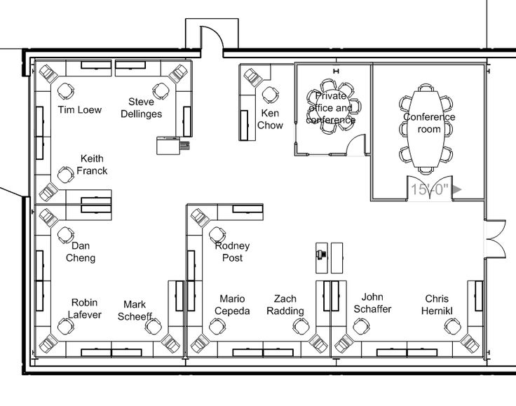 Drawn office office layout  The ofwllc about Project