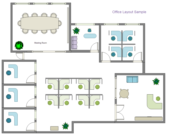 Drawn office office layout And Office  Examples Templates