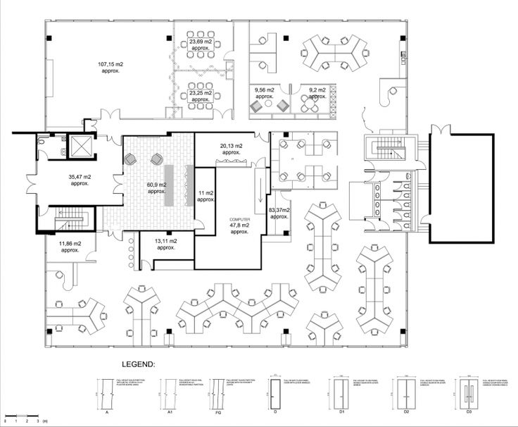 Drawn office office layout Best Layout without the layout