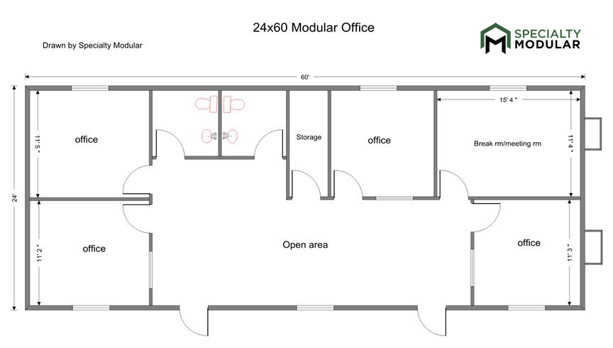 Drawn office office reception And/or area Modular RR's 7