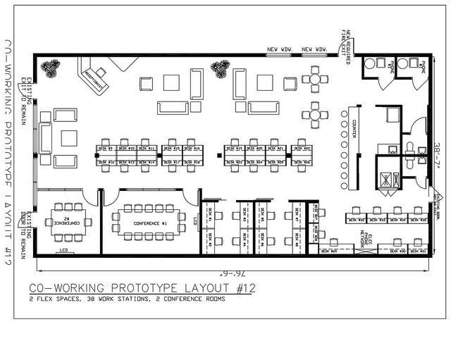 Drawn office office space Images 282 floorplan about Coworking