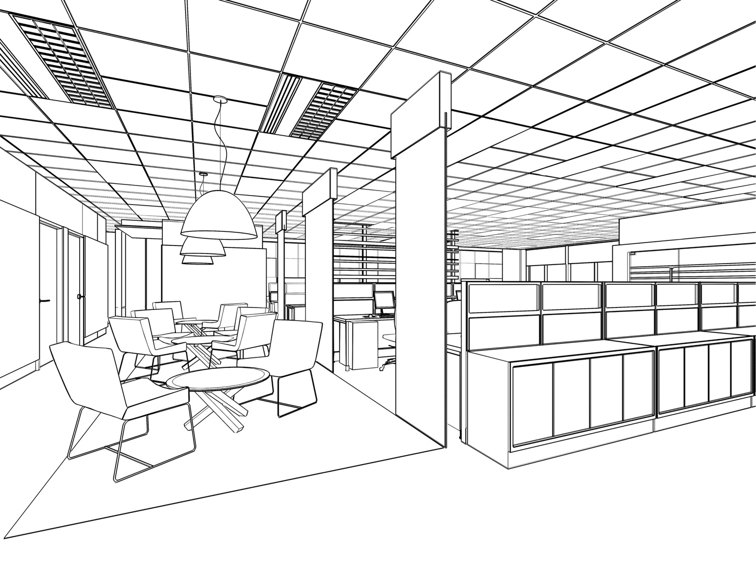 Drawn office office space Planning jpg Drawn — Line