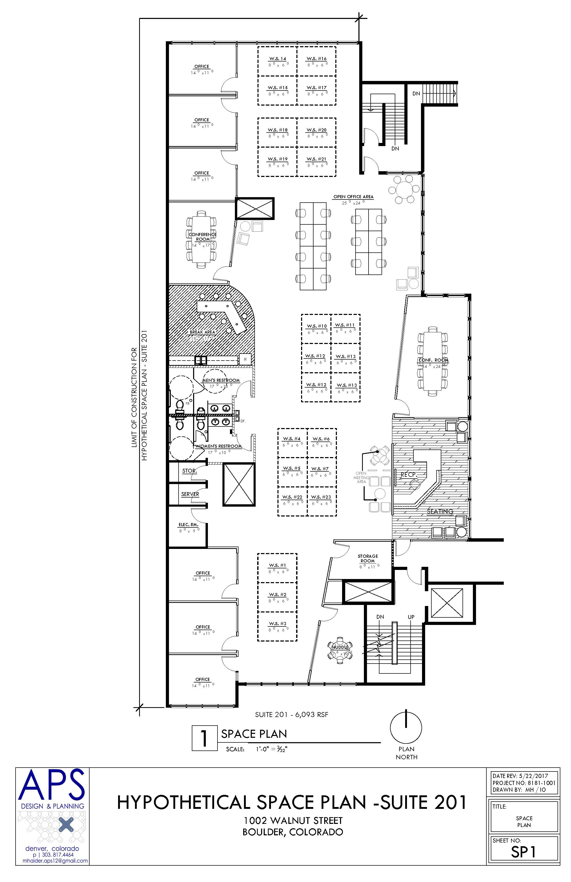 Drawn office office space Lease Space Space 1002 Hypothetical