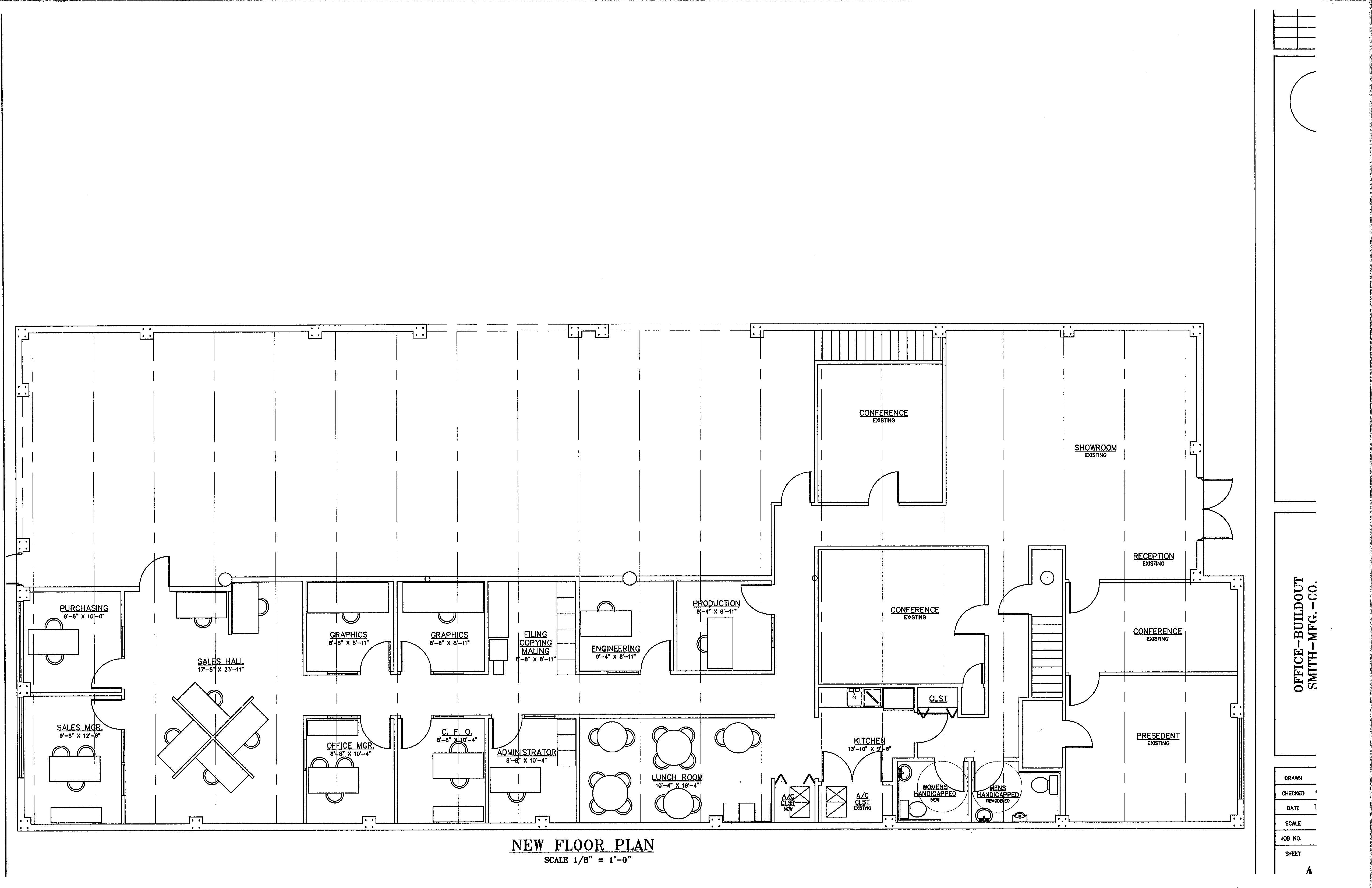 Drawn office office space Pompano 2 Planning 304 FP's