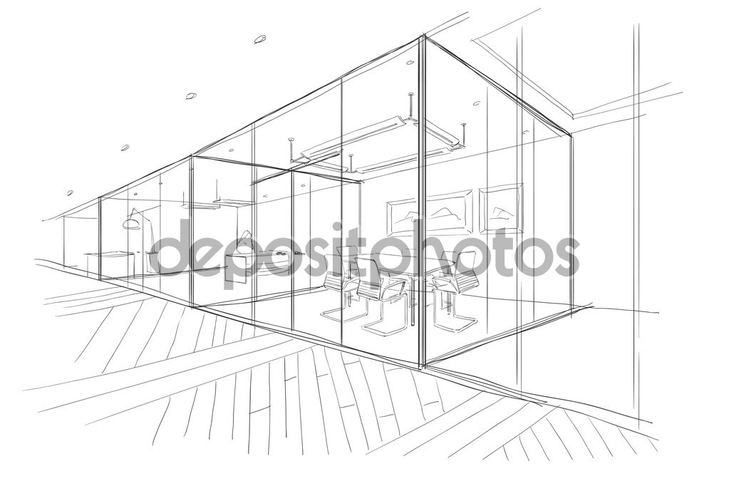 Drawn office office space The space the drawn —