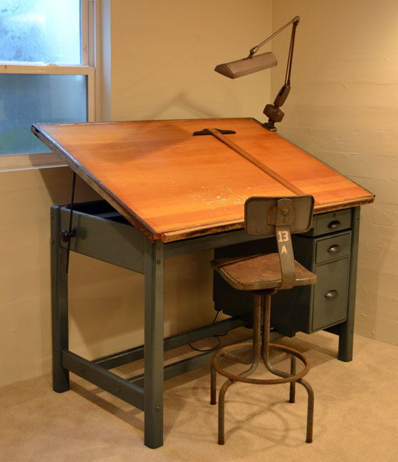 Drawn office office table Antique by Pinterest table Drafting