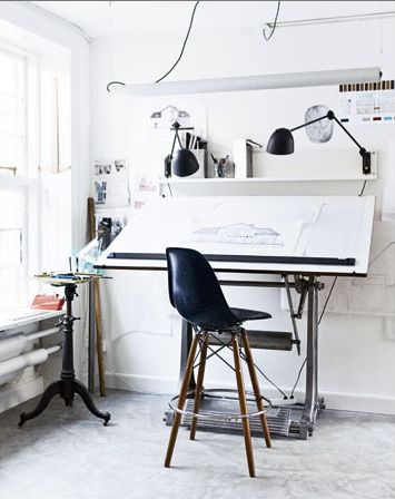Drawn office office table BoardDrawing Home Drawing SpacesOffice Pinterest
