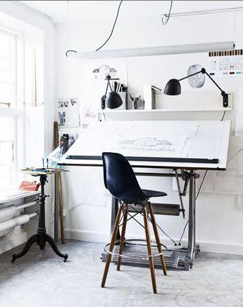 Drawn office office table BoardDrawing Home Pinterest on Scandinavian